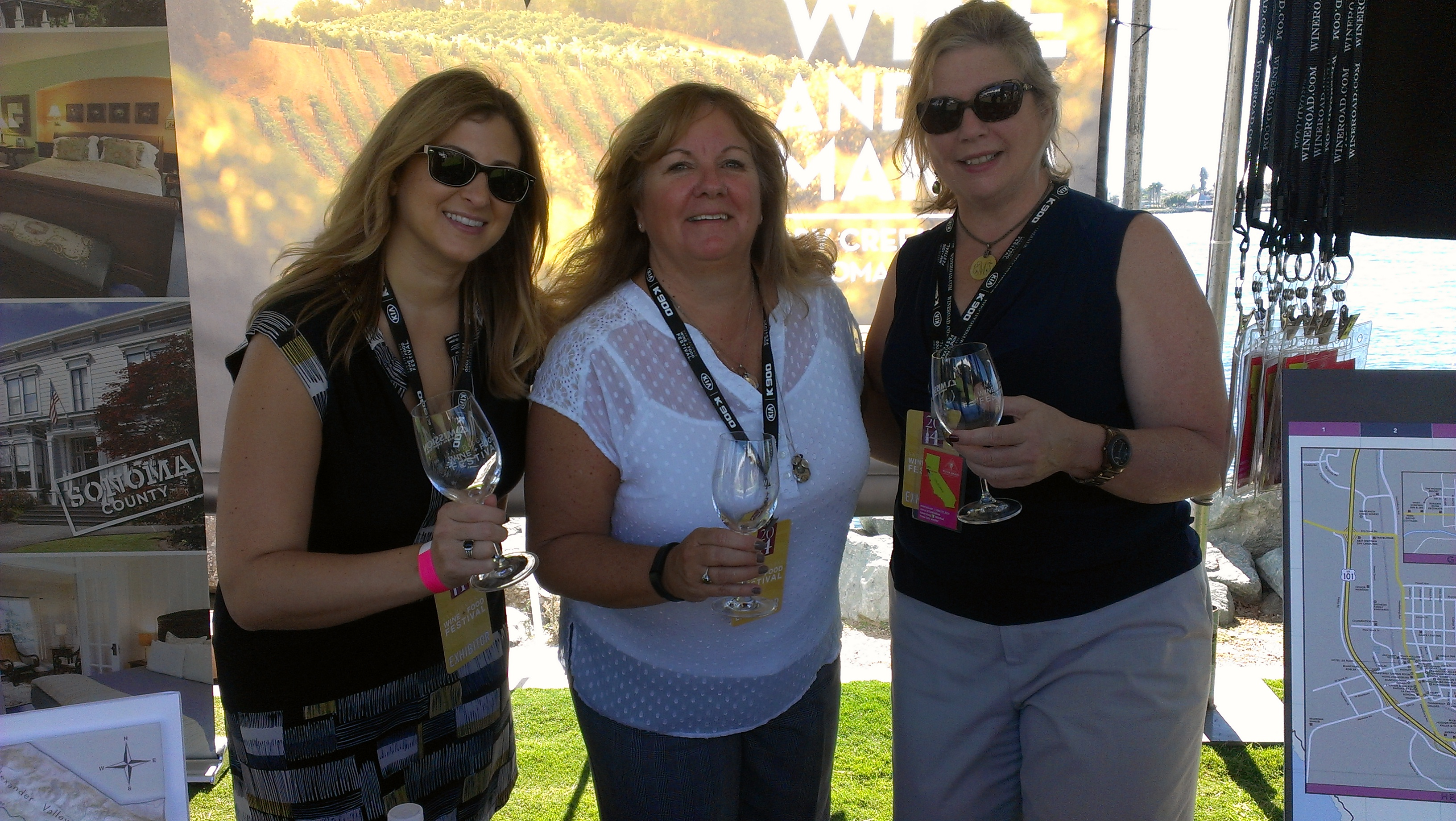 Celia Soudry, Beth Costa from The Wine Road, and Erin McCauley from the Hilton Garden Inn Sonoma Airport